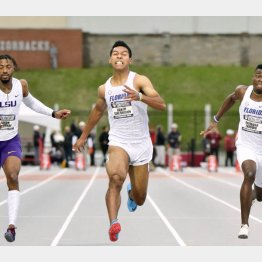 陸上100メートルで決勝進出が期待されるサニブラウン(C)共同通信社