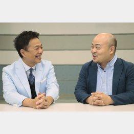 恵俊彰と原田曜平(C)日刊ゲンダイ