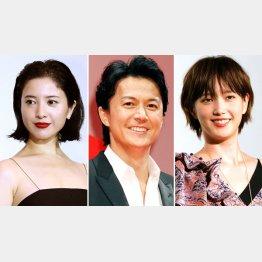 左から吉高由里子、福山雅治、本田翼(C)日刊ゲンダイ
