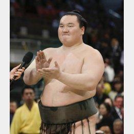 優勝した大相撲春場所で三本締め(C)共同通信社