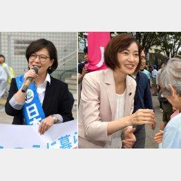 (左から)演説に定評がある浅賀由香氏、佐々木さやか氏は盤石/(C)日刊ゲンダイ