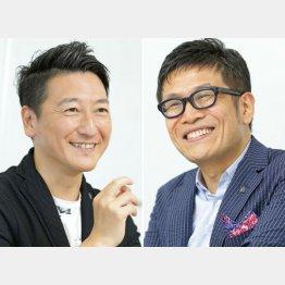堀潤さん(左)と名越康文さん/(C)日刊ゲンダイ