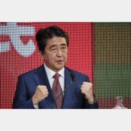党首討論で、参院選は憲法が争点と述べる安倍首相(C)日刊ゲンダイ