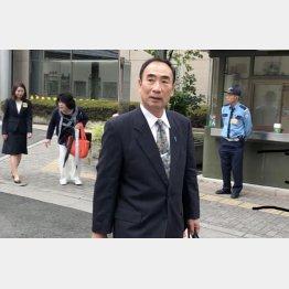 法廷を終えて地裁を出る籠池泰典元理事長(撮影)相澤冬樹