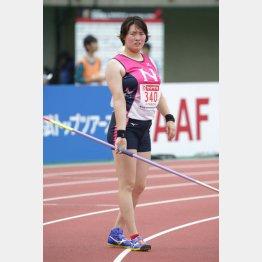 陸上日本選手権の女子やり投げで優勝した北口榛花(C)日刊ゲンダイ