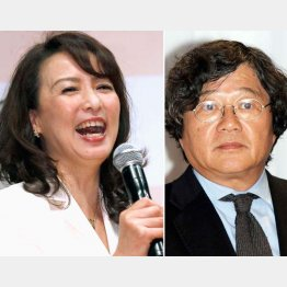 河野景子さん(左)と石川次郎氏(C)日刊ゲンダイ