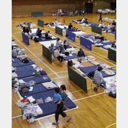 プライバシーを確保するのはとても困難(2018年9月の北海道胆振東部地震)/(C)共同通信社