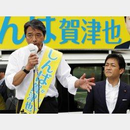 榛葉賀津也候補の出陣式に玉木代表が駆けつけた(C)日刊ゲンダイ