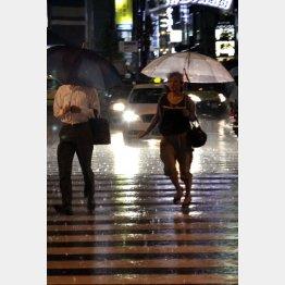 強い雨?激しい雨?(C)日刊ゲンダイ