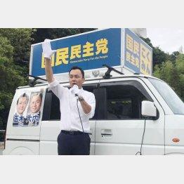 安倍首相のお膝元でどこまで…(大内一也候補)/(提供写真)