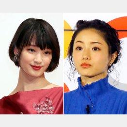 剛力彩芽(左)と石原さとみ(C)日刊ゲンダイ