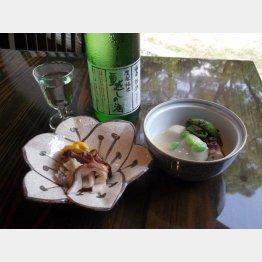 タコの燻製(左)とたこの柔らか煮(C)日刊ゲンダイ