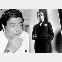石原裕次郎(=共同)と米俳優のハンフリー・ボガード(C)ロイター/MPTV