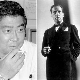 石原裕次郎(=共同)と米俳優のハンフリー・ボガード