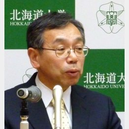 解任を求められた北海道大学の名和豊春総長(C)共同通信社