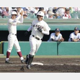 1年生ながら甲子園で2本塁打を放った清宮幸太郎(C)日刊ゲンダイ