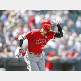 大谷の二塁打が菊池を降板させるきっかけに(C)ロイター/USA TODAY Sports