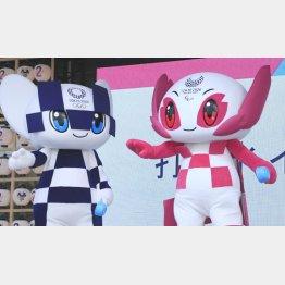 東京五輪マスコットのミライトワとソメイティ(C)日刊ゲンダイ