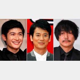 左から三浦春馬、唐沢寿明、大森南朋(C)日刊ゲンダイ