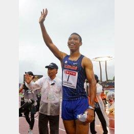 日本選手権で100メートルに続き、200メートルも制したサニブラウン(C)日刊ゲンダイ