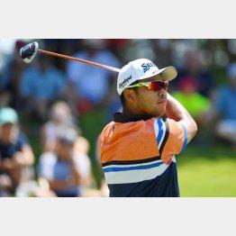 世界選手権ゴルフ初日、第1ラウンドの松山(C)ロイター/USA TODAY Sports