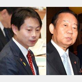 石崎議員(左)と二階幹事長(C)日刊ゲンダイ