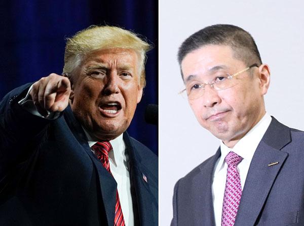 空気が読めなかった西川社長(右)にトランプ大統領激怒!?(C)ロイター