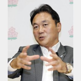 「これは構想ではなく宣言」と清宮副会長(C)共同通信社