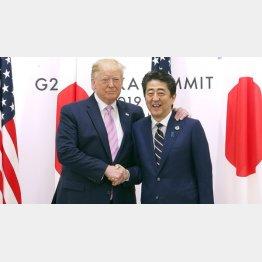 何でも聞くよ!(安倍首相とトランプ米大統領)/(C)JMPA/稲葉訓也