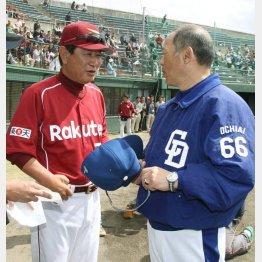 星野監督(左)の野球を否定した落合監督(C)日刊ゲンダイ