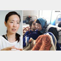 国境なき医師団の白川優子さん(2017年、イラク・モスルで=右)/(C)日刊ゲンダイ