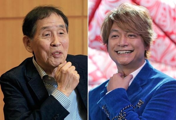 萩本欽一(左)と香取慎吾(C)日刊ゲンダイ