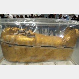 ツタンカーメンの黄金の棺(C)ロイター