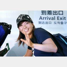 """一躍""""時の人""""になった渋野日向子(C)共同通信社"""