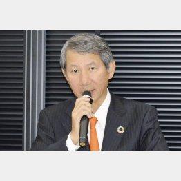 5月、1800億円規模の金融支援を受けると発表する千代田化工建設の山東理二社長(C)共同通信社