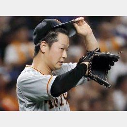 同点一塁打を許した中川(C)共同通信社