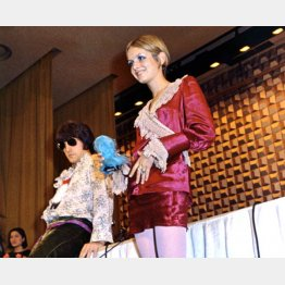 ニスカブーム元祖、英国のファッションモデル・「ミニの女王」ツイギーが来日(C)共同通信社