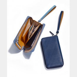 スマートフォンも入るFUJITAKAのデバイス財布(提供写真)