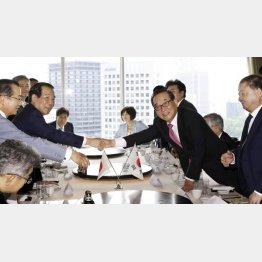日韓の議連会合でも解決の糸口見えず(代表撮影)