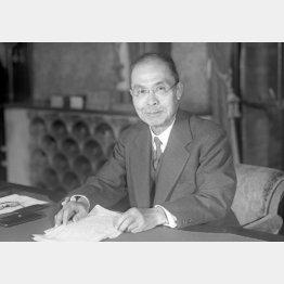 幣原喜重郎首相(1945年10月)/(C)共同通信社
