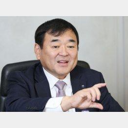 アサヒビール 塩澤賢一社長(C)日刊ゲンダイ