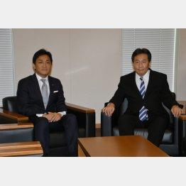 玉木氏(左)と枝野氏(C)日刊ゲンダイ