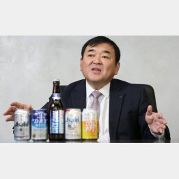 アサヒビールの塩澤賢一社長(C)日刊ゲンダイ