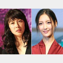 水野美紀(左)と菜々緒(C)日刊ゲンダイ