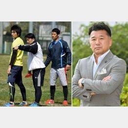 吉田義人氏は7人制ラグビーチーム「サムライセブン」の監督(左、中央)でもある(C)共同通信社