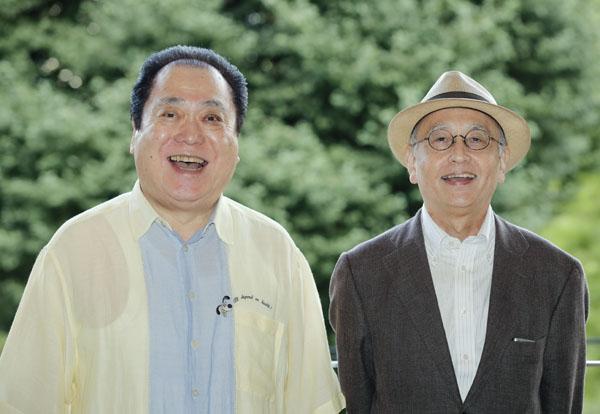 鈴々舎馬風(左)と吉川潮(C)日刊ゲンダイ