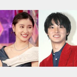 土屋太鳳(左)と山崎賢人(C)日刊ゲンダイ
