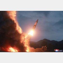 北朝鮮が8月10日に発射した弾道ミサイル(C)朝鮮中央通信・ロイター