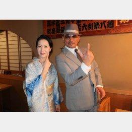 坂本冬美(左)、クレイジーケンバンドの横山剣と(提供写真)