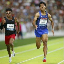 サニブラウン(右)は世界選手権に間に合うか(C)共同通信社